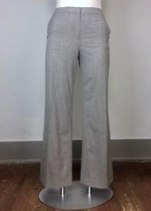 St. John 14 Gray Pattern Stretch Wide Straight Leg Slacks Trousers Pants