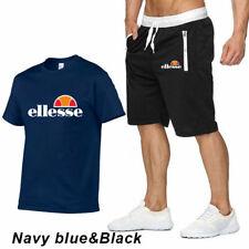 2 pcs//Sets Costume de sport pour hommes T-shirt+short Coton Multicolore Top mode