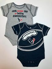 NFL Houston Texans Infant All in One Lot of 2 Blue Gray Sleeper S S 2eae5a664