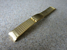 Seiko Stainless Steel Gold Criss Cross Pattern19mm Curved End Watch Band F3