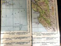 Lot of Vintage World Aeronautical WWII Chart Maps Some Restricted