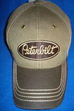 PETERBILT HAT:             WASHED CANVAS / SOLID CLOTH CAP:   * FREE SHIP *