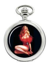 Vintage Pin-up Girl Pocket Watch