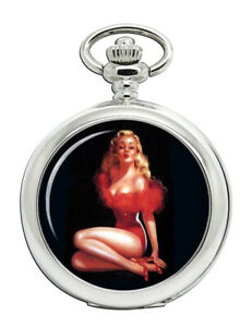 Vintage Pin-up Girl Pocket Watch