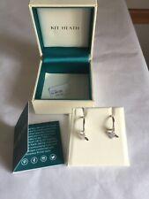 Kit Heath star 925 Sterling Silver loop Earrings, Silver New boxed /