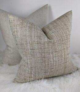 Weave Cushion Cover John Lewis & Partners Tonal Weave Fabric Natural Beige Decor