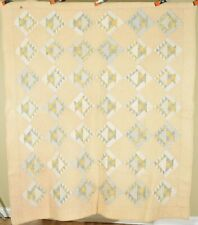 GORGEOUS Vintage 1930's Baskets / Cake Stand Antique Quilt ~BEAUTIFUL YELLOWS!