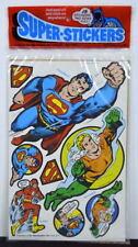 DC SUPER-STICKERS 1979 MIP 15 Stickers Our Way Studios #1801 MIP Aquaman Joker