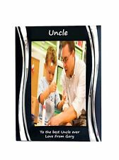 Uncle Black Metal 4 x 6 Frame - Personalise this frame - Free Engraving