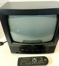 "Vintage 2002 JVC Video VCR 13"" Color Television Gaming Model TV-13143 w/ Remote"