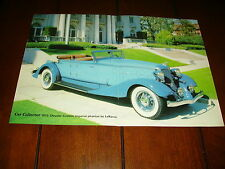 1933 CHRYSLER CUSTOM IMPERIAL PHAETON By LeBARON  ***ORIGINAL 1986 ARTICLE***