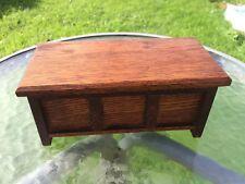 Vintage Oak Coffer Music Box Trinket Thorens Movement