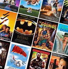80s VINTAGE CLASSIC MOVIE POSTERS PRINTS - Beetlejuice, Jaws, ET - part 1