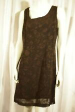 UNITED COLORS OF BENETTON Brown Floral sleeveless DRESS L Made in Italy