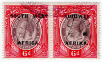 (I.B) South-West Africa Revenue : Duty Stamp 6d