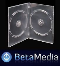 25 x Double Clear 14mm Quality CD / DVD Cover Cases - Standard Size DVD case
