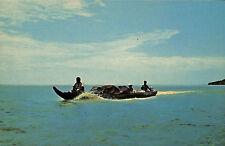 SURINAM SURINAME CARTE POSTALE TRANSPORTATION BY DUGOUT CANOE