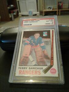 1969-70 opc # 189 Terry Sawchuk  Psa 8
