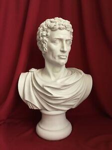 """Julius Caesar, Roman Emperor in toga Marble Bust Sculpture (Large) 65 cm (25.5"""")"""