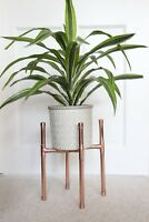 Copper Pipe Pot Plant Stand Handmade Industrial Metal Vintage Retro