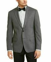 Calvin Klein Mens Blazer Gray Size 40 Two-Button Slim Fit Notched $295 #155