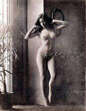 BIG BOOB BEAUTY Nude in Hall SEPIA HENDRICKSON PHOTO Original Artist Studio D368
