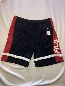 Mens Fila Basketball Training Mesh Shorts Size XL Dark Blue