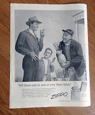1956 ZIPPO Lighter Ad  It'll Bllom just as sure as your Zippo Lights