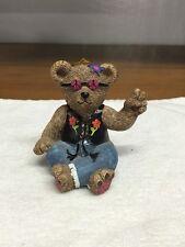 Clair's 1997 Hippie Dressed Bear Figurine Ornament