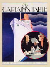 The Captain's Table: Life and Dining on the Great Ocean Liners by Sarah Edingto…