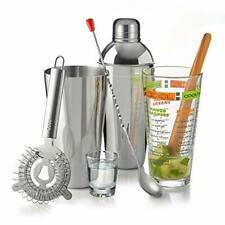 9-Piece Professional  Easy Clean Stainless Steel Metal Shaker Cocktail Set
