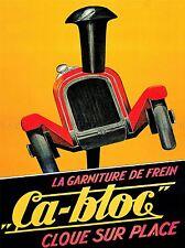 ADVERT AUTOMOBILE CAR BRAKE NAIL FRANCE CA-BLOC POSTER ART PRINT BB1666A