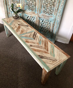 Handmade Solid Mango Wooden Bench, Furniture, Home And Living