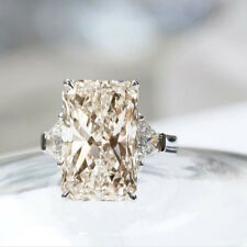 White Radiant Moissanite Engagement Party Ring 925 Sterling Silver 6.26 Ct Off