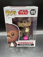 Funko POP! Star Wars - Chewbacca #195 (FYE Exclusive, Flocked) w/ Porg - New