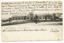 CPA PK AK CHARLEROI LA GARE DE L' OUEST  STATÏE 1909 EDITEUR VAN DEN HEUVEL