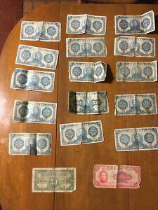 14 CHINA 10 YUAN 1940 CHINESE CENTRAL RESERVE BANK Banknote, 100 Yuan 1942, 50