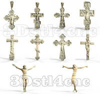 10 3D Models STL CNC Router Artcam Aspire Christian Crucifix Cross Cut3D Vcarve