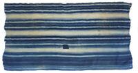 Vintage faded distressed stripe indigo Danfi cloth from Mali, West Africa D22