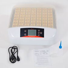 Digital Automatic Temperature Control 56 Eggs Incubator with Egg Candler 110V