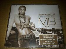 MARY J BLIGE Enough Cryin 5TRX INSTRUMENTAL & UNRELEASE TRX& VIDEO CD Single j.