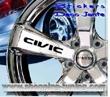 8 STICKER AUTOCOLLANT LOGO JANTE HONDA CIVIC