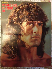 SYLVESTER STALLONE RAMBO / BUNDESLIGA  88 - DOUBLE-SIDED GIANT POSTER FROM BRAVO