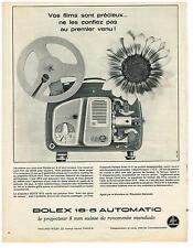 PUBLICITE ADVERTISING  1963   BOLEX  18.5 automatic