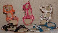 Chaussures Sandales Tongs Fille Similicuir et Tissus Fleuries Pierre-cedric !!