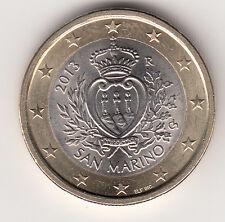 SAN MARINO  MONETA FDC DA 1 EURO ANNO RARO  2013 fior di conio da ROTOLO REGALO