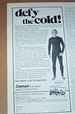 1980 vintage print ad -Damart thermal long underwear Portsmouth New Hampshire AD