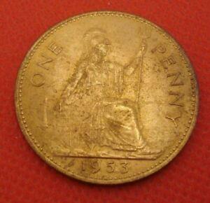 British Penny 1953 BU