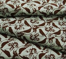 "Bird Printed Indian Cotton Fabric Decorative 43"" Wide Sewing Craft By The Yard"