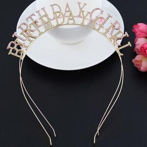 BIRTHDAY GIRL Headband Hairband  Tiara Headdress Women Headwear Hair Accessories